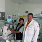 Dr. Antonio Bayardo with his colleague